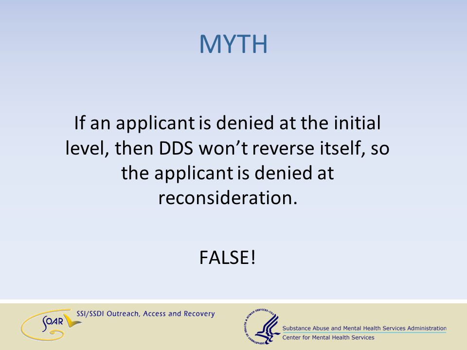 Examine the Disability Determination Explanation (DDE) for the reasoning behind the denial It is included in ODAR exhibits BUT you can get a copy from SSA prior to that What to Review Before Requesting an OTR