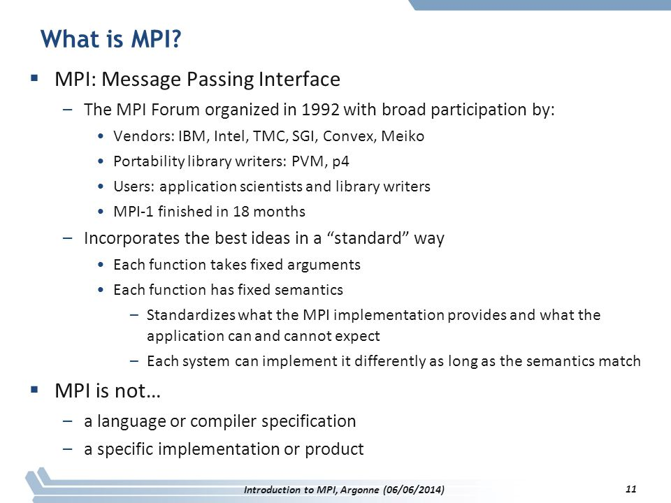 What is MPI.