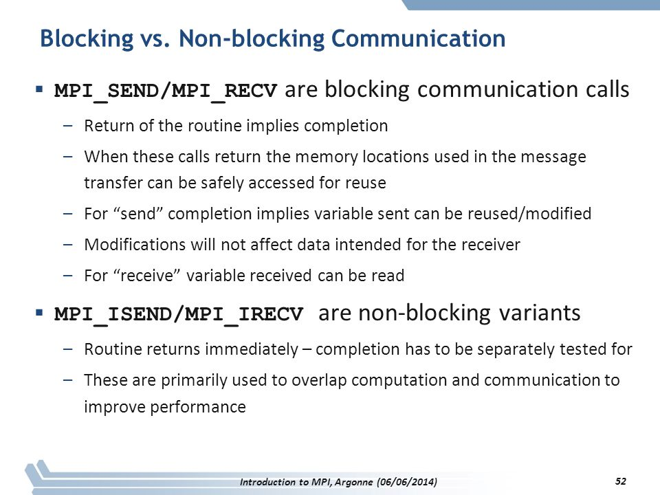Blocking vs.