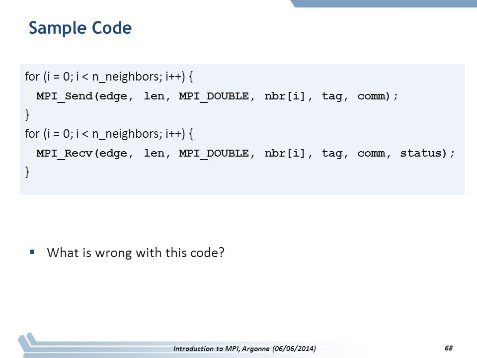 Sample Code  What is wrong with this code.