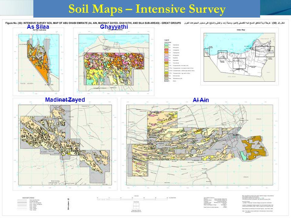 Soil Maps – Intensive Survey GhayyathiAs Silaa Madinat Zayed Al Ain