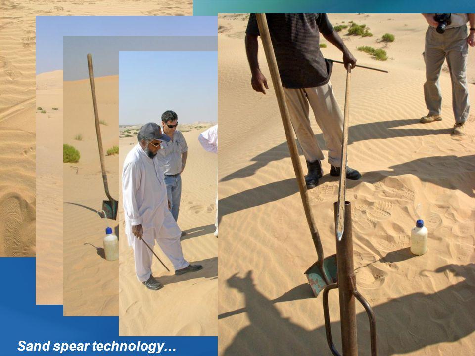 Sand spear technology…