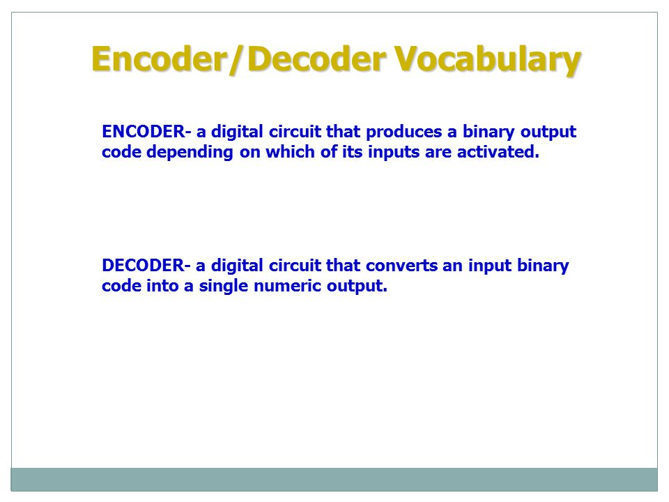 BCD-to- 7-Segment Decoder/ Driver DECODERS: BCD TO 7-SEGMENT DECODER/DRIVER BCD input 0 0 Decimal output LED 0 0 0 1 0 0 1 0 0 0 1 1 0 1 0 0 Electronic decoders are available in IC form.
