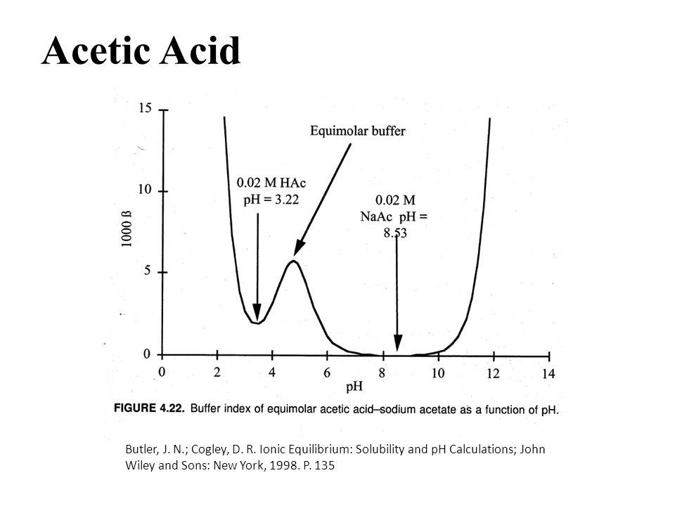 Acetic Acid Butler, J. N.; Cogley, D. R.