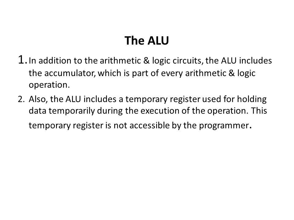 The ALU 1.