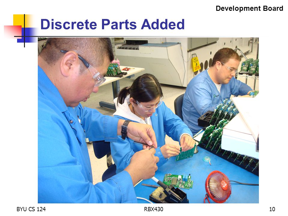 BYU CS 124RBX43010 Discrete Parts Added Development Board