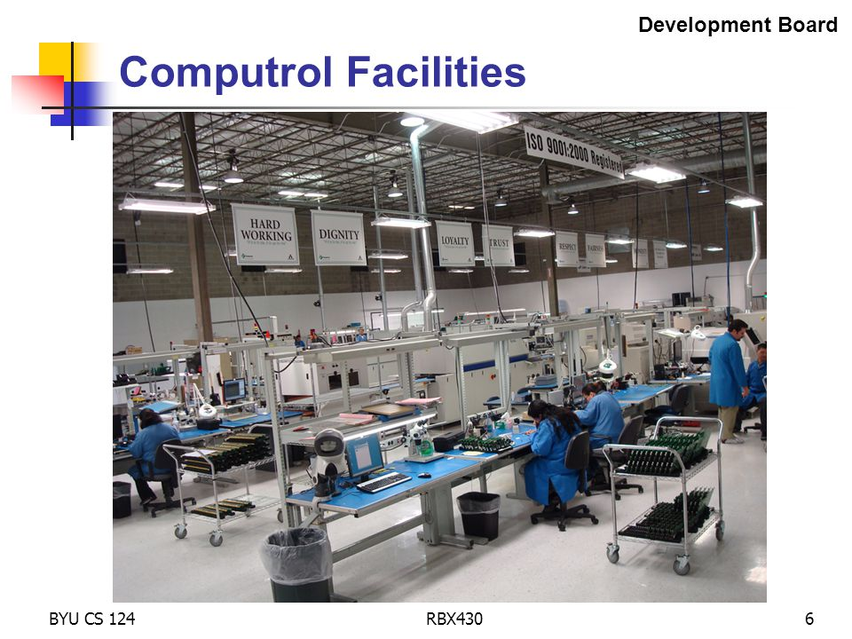 BYU CS 124RBX4306 Computrol Facilities Development Board