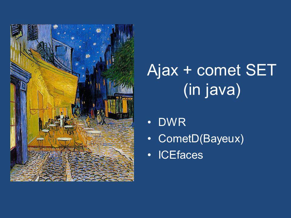 Ajax + comet SET (in java) DWR CometD(Bayeux) ICEfaces
