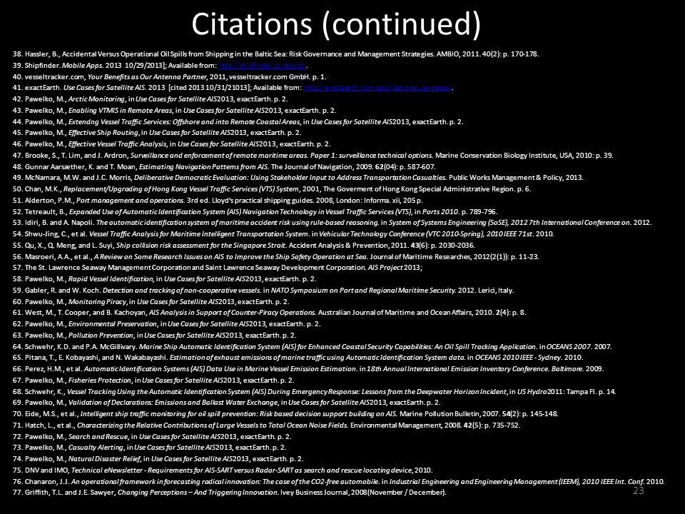 Citations (continued) 38.