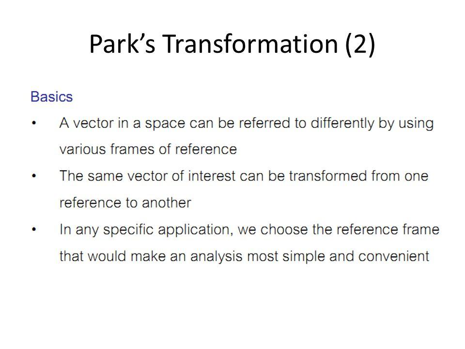 Park's Transformation (2)