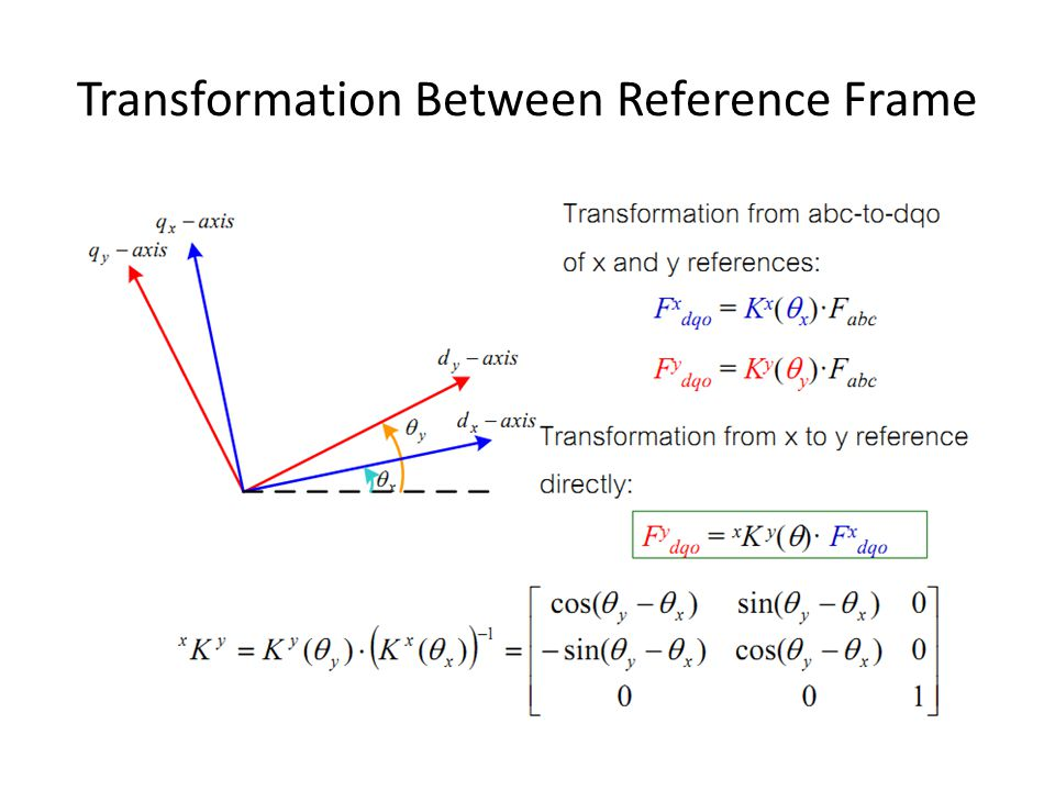 Transformation Between Reference Frame