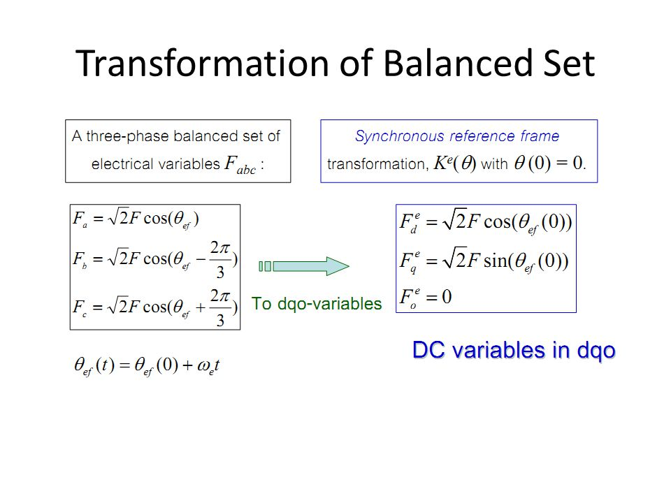 Transformation of Balanced Set