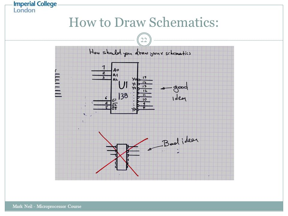 How to Draw Schematics: Mark Neil - Microprocessor Course 22