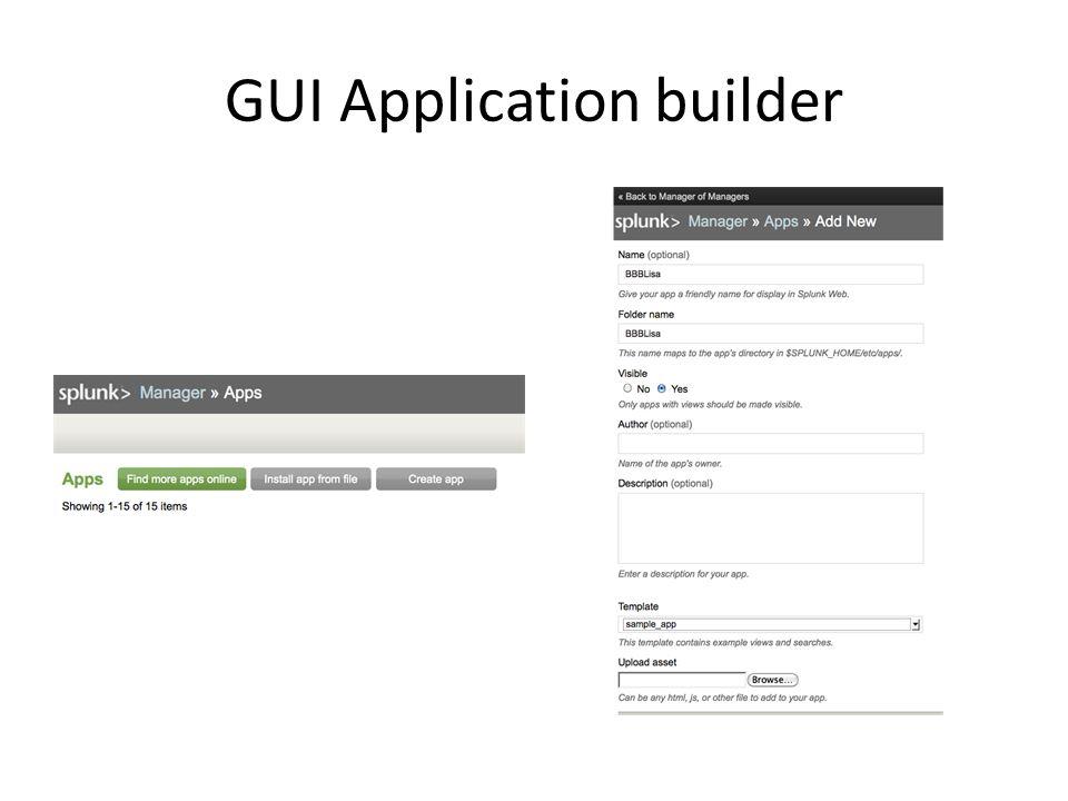 GUI Application builder