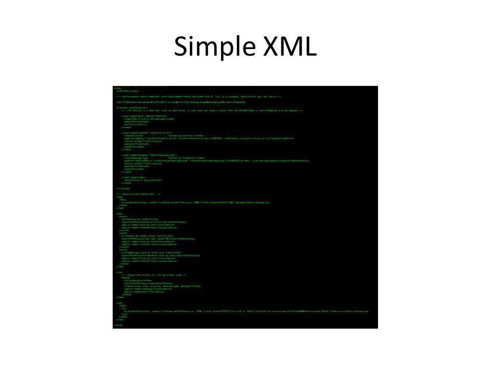 Simple XML