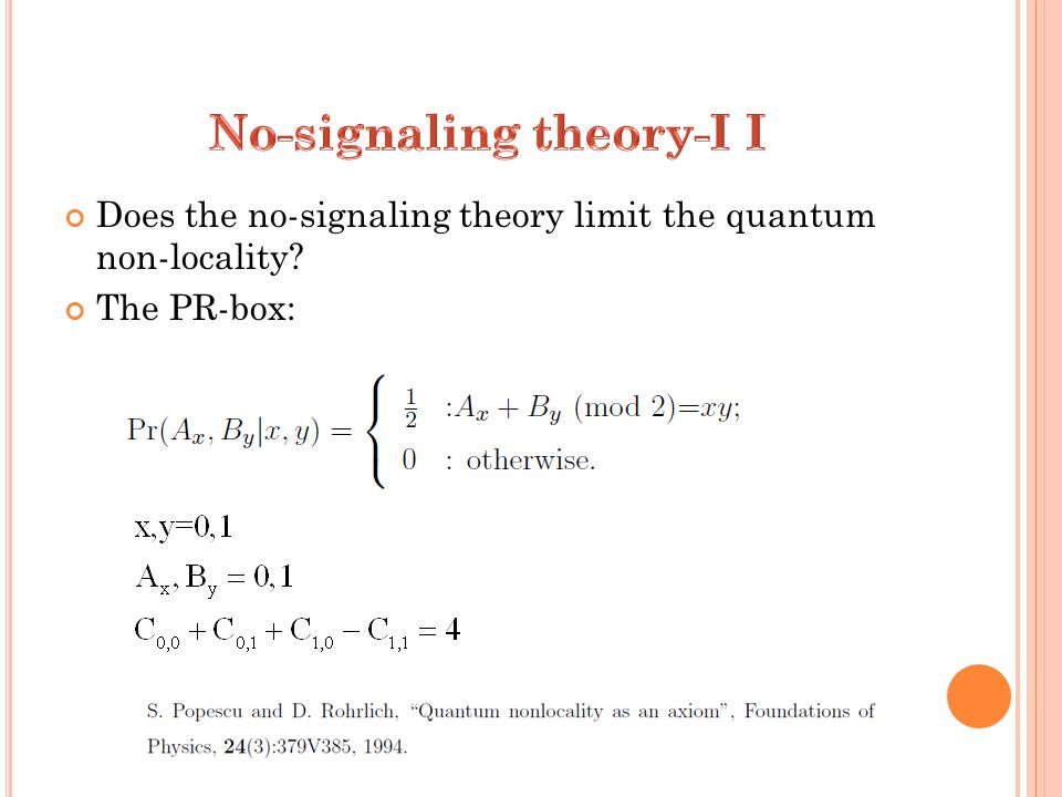 Does the no-signaling theory limit the quantum non-locality The PR-box: