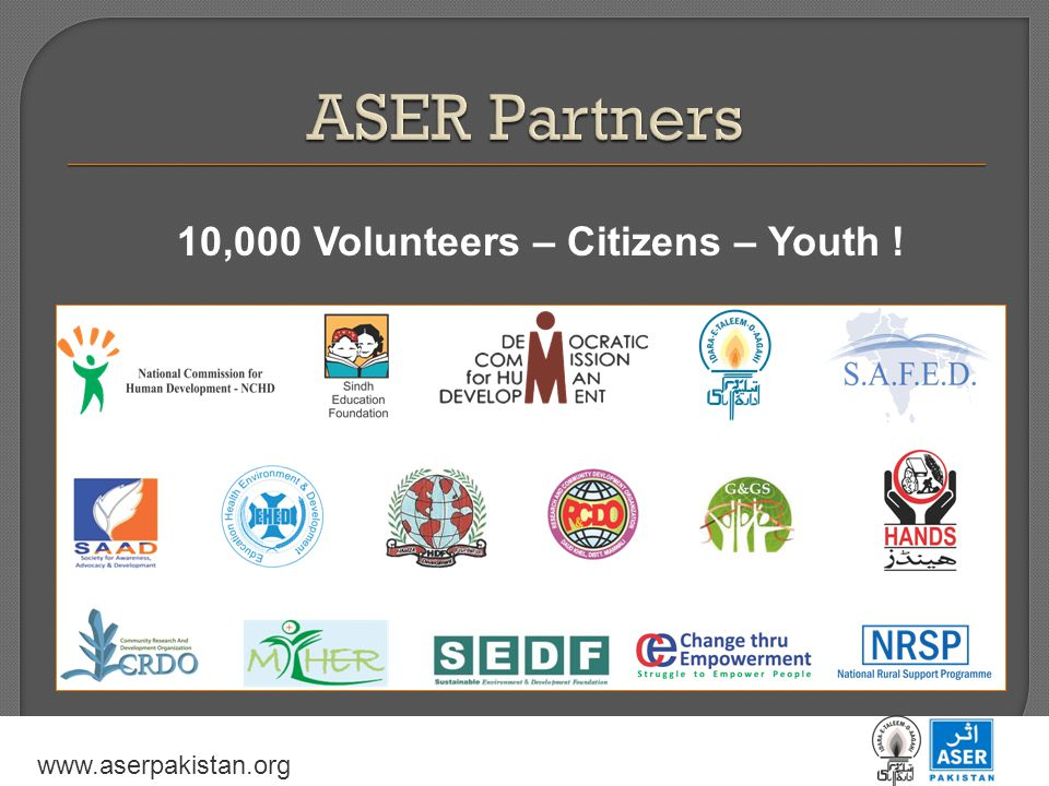 10,000 Volunteers – Citizens – Youth !