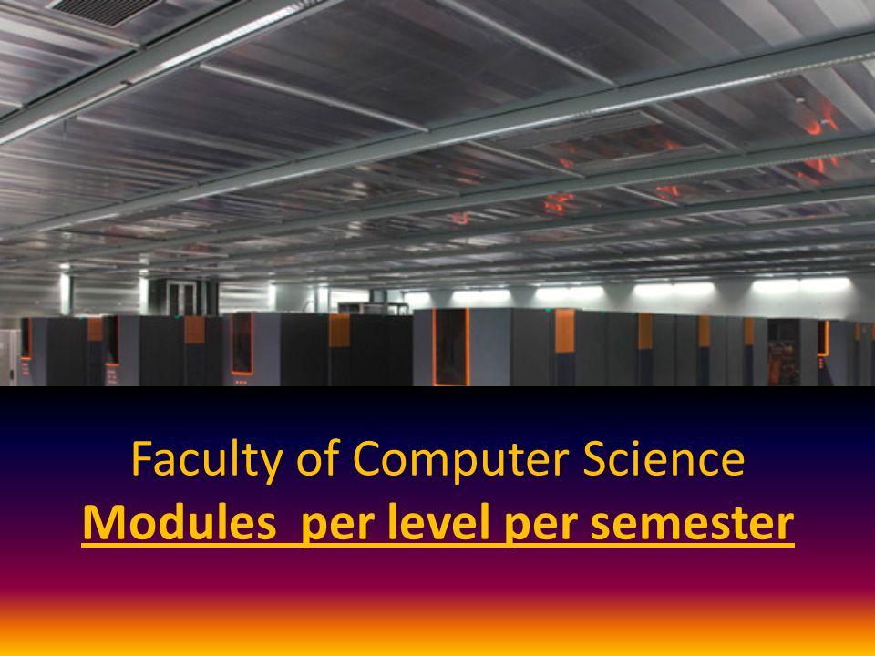 Faculty of Computer Science Modules per level per semester