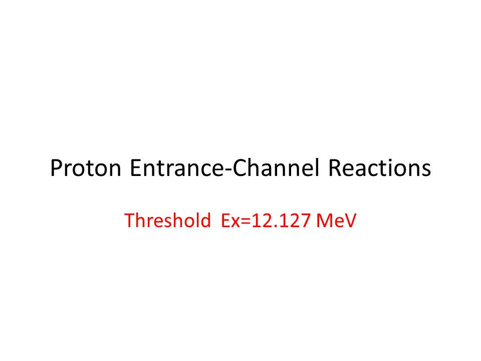 Proton Entrance-Channel Reactions Threshold Ex=12.127 MeV