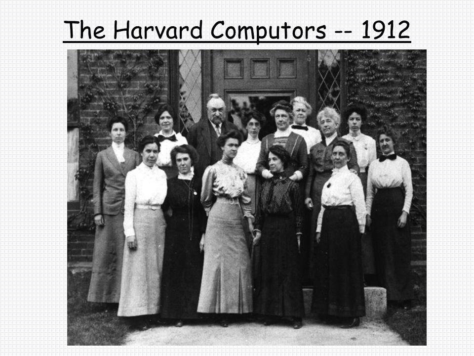 The Harvard Computors -- 1912