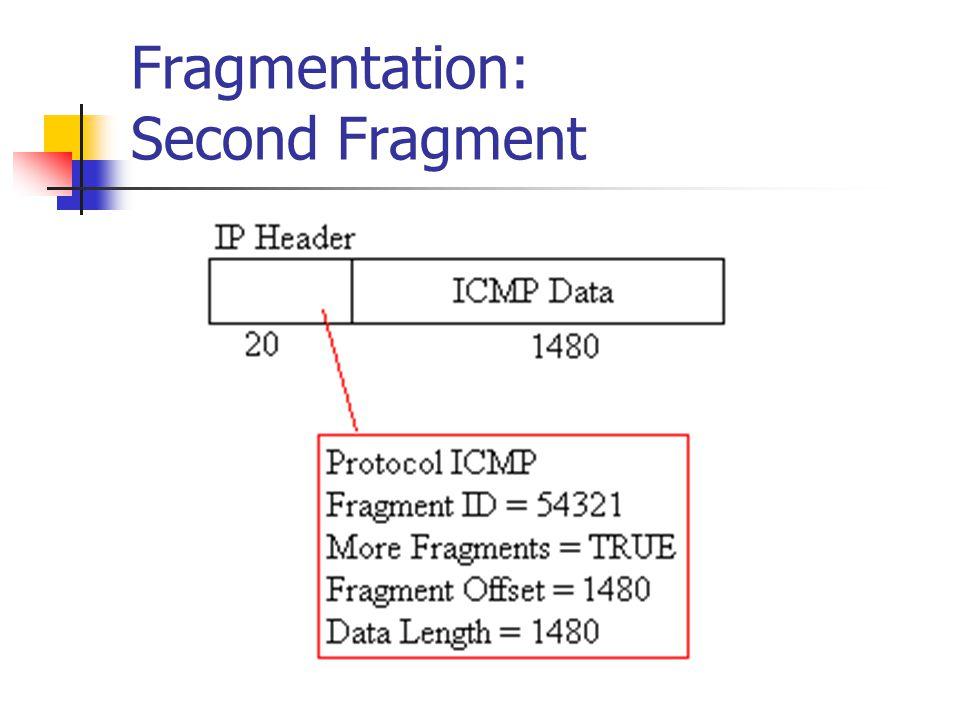 Fragmentation: Second Fragment