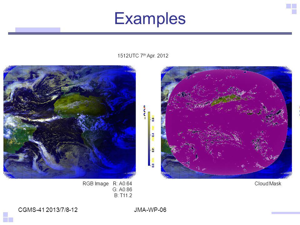 CGMS-41 2013/7/8-12JMA-WP-06 1512UTC 7 th Apr.