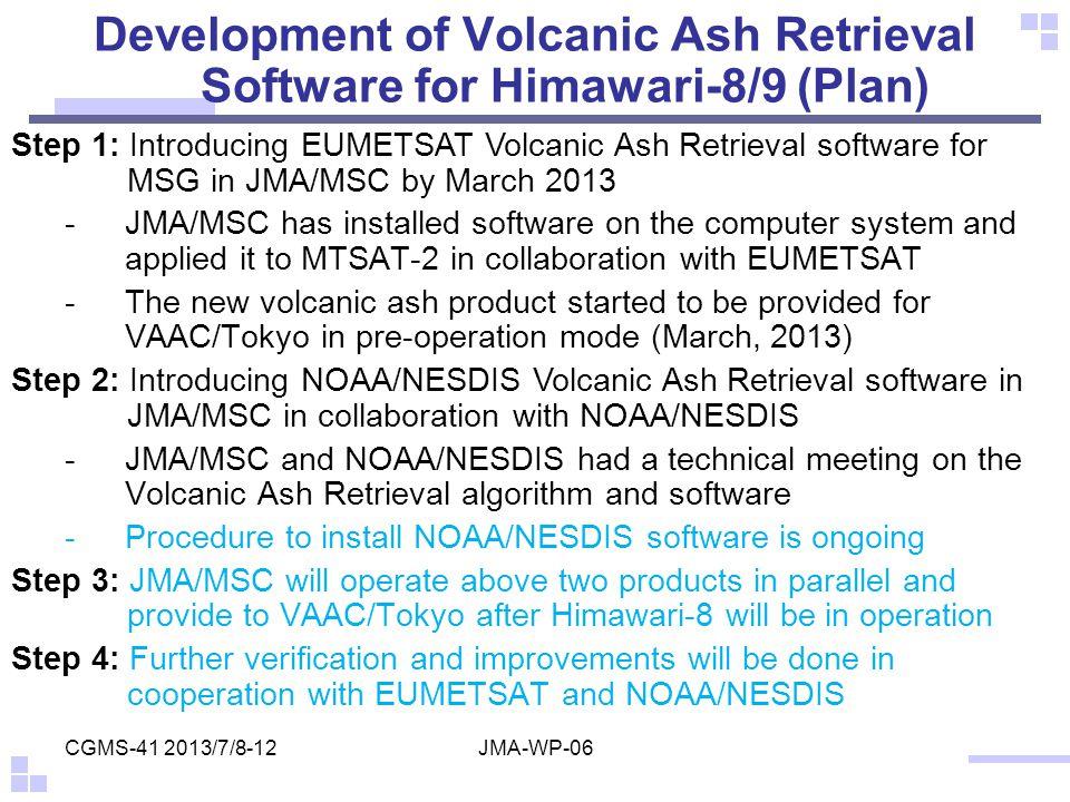 Progression Status of Volcanic Ash Product since Nov.