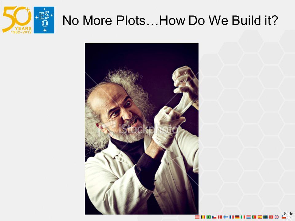 Slide 22 No More Plots…How Do We Build it?