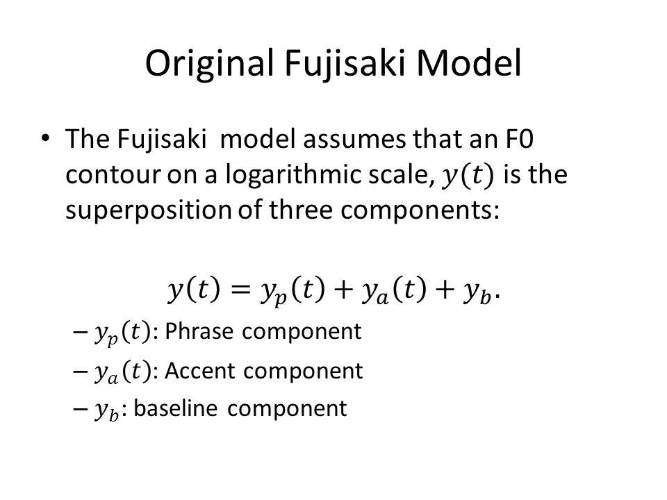Original Fujisaki Model