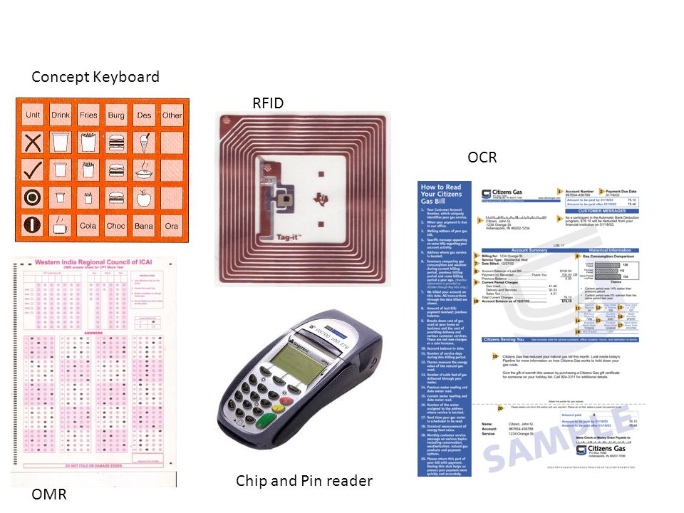 RFID OCR Chip and Pin reader OMR Concept Keyboard
