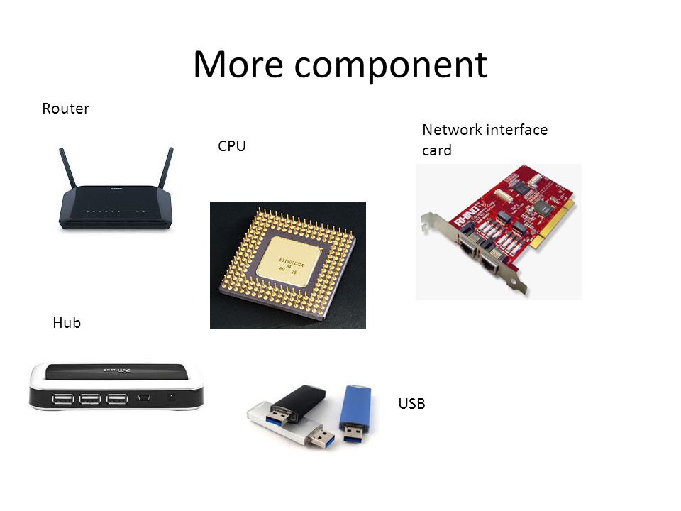 Router CPU USB Network interface card Hub