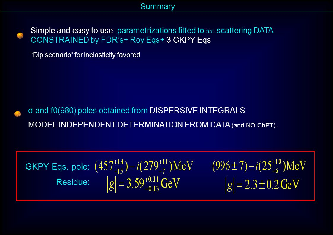 Summary GKPY Eqs.