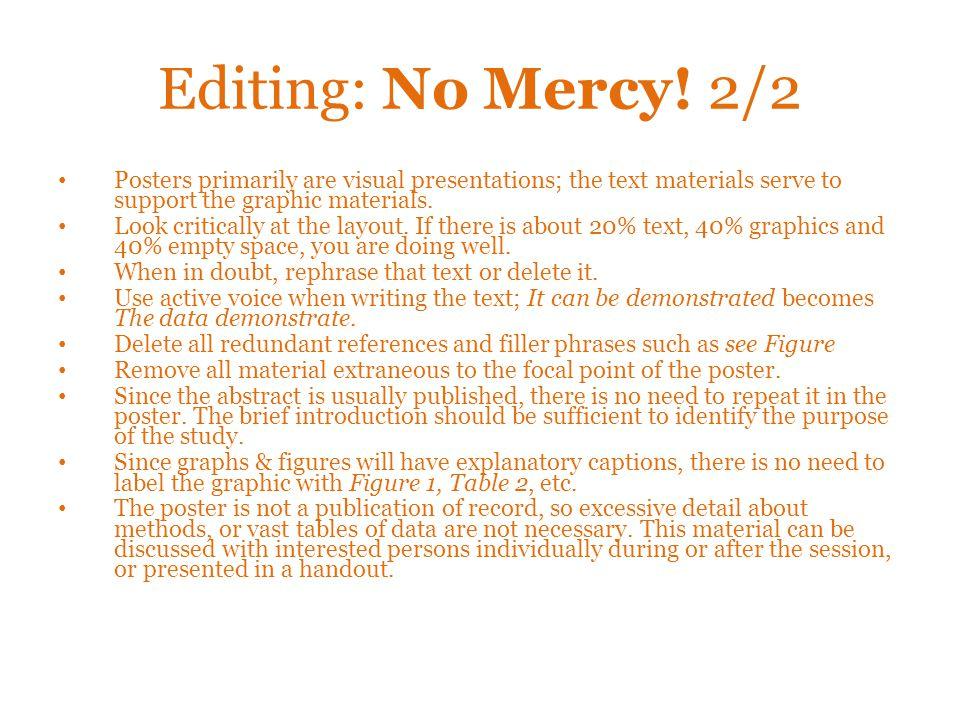 Editing: No Mercy.