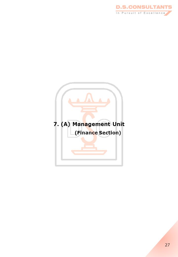 7. (A) Management Unit (Finance Section) 27