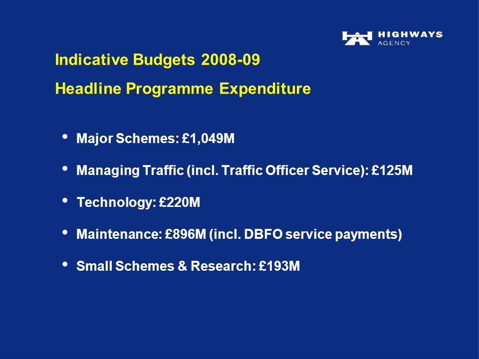Major Schemes: £1,049M Managing Traffic (incl.