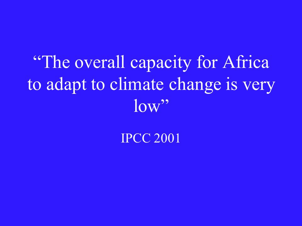 Conclusion West Africa simulated better in A1 simulations relative to CCM3 but for wrong reasons.