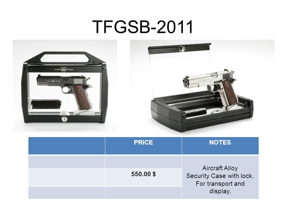 TFGSB-2011 PRICENOTES Aircraft Alloy Security Case with lock. For transport and display. 550.00 $