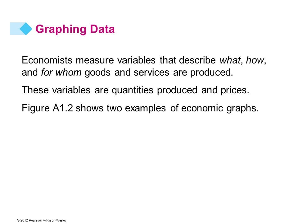 Economists measure variables that describe what, how, and for whom goods and services are produced.