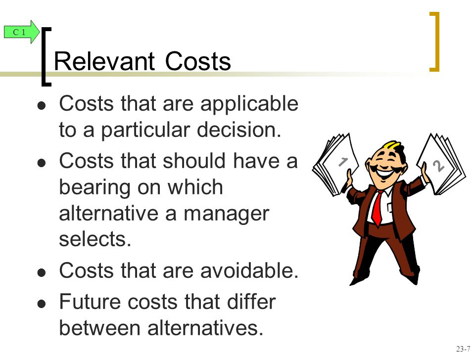 Costs that are applicable to a particular decision.
