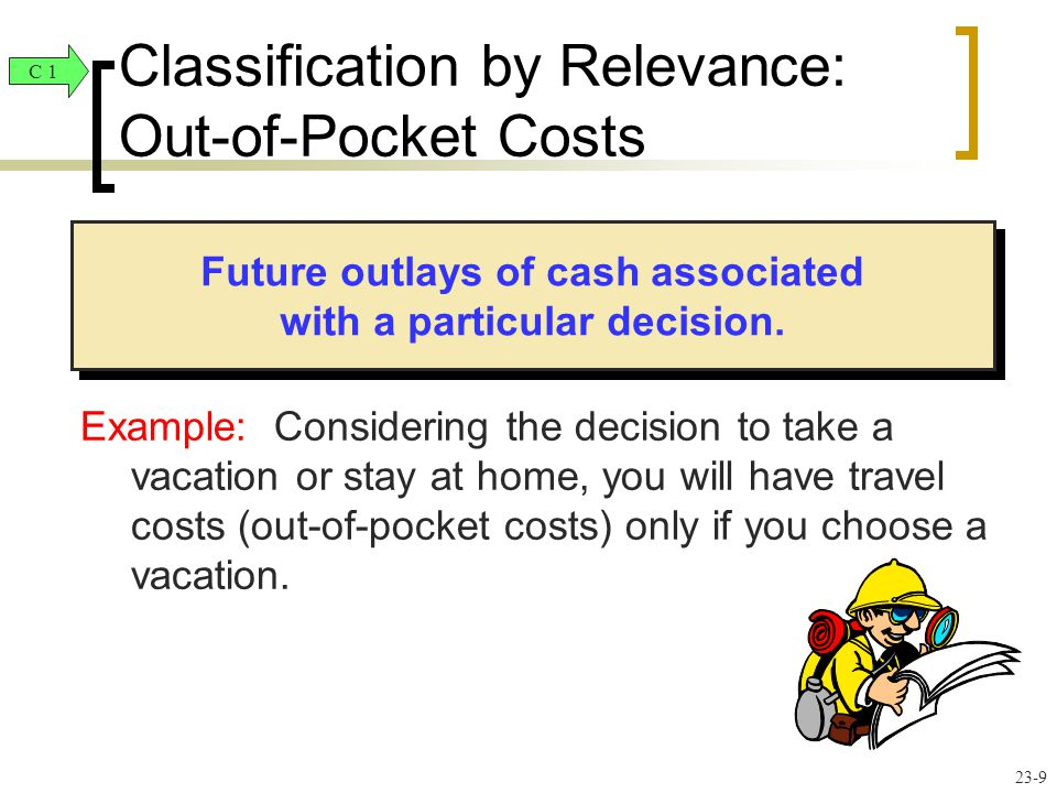 Future outlays of cash associated with a particular decision.