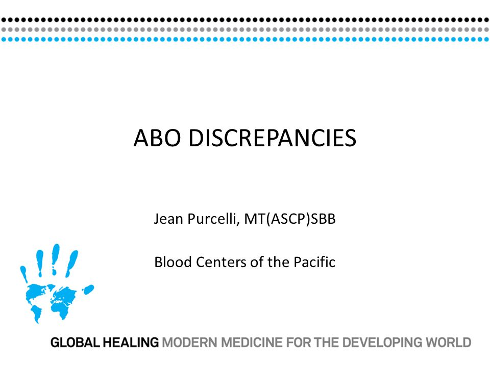 ABO discrepancies occur because of: Intrinsic problems with the red cells or the serum.