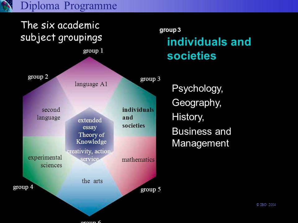 Diploma Programme Arts and Electives Language A1 Experimental sciences Second Language Individuals and societies Mathematics arts and electives langua