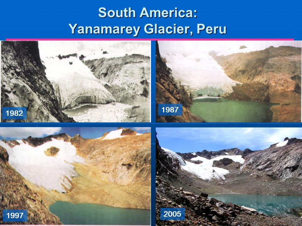 1982 1987 1997 2005 South America: Yanamarey Glacier, Peru