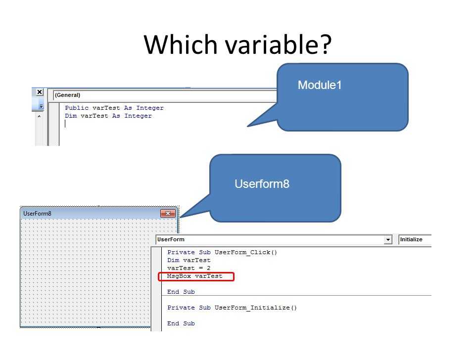 Which variable? Module1 Userform8