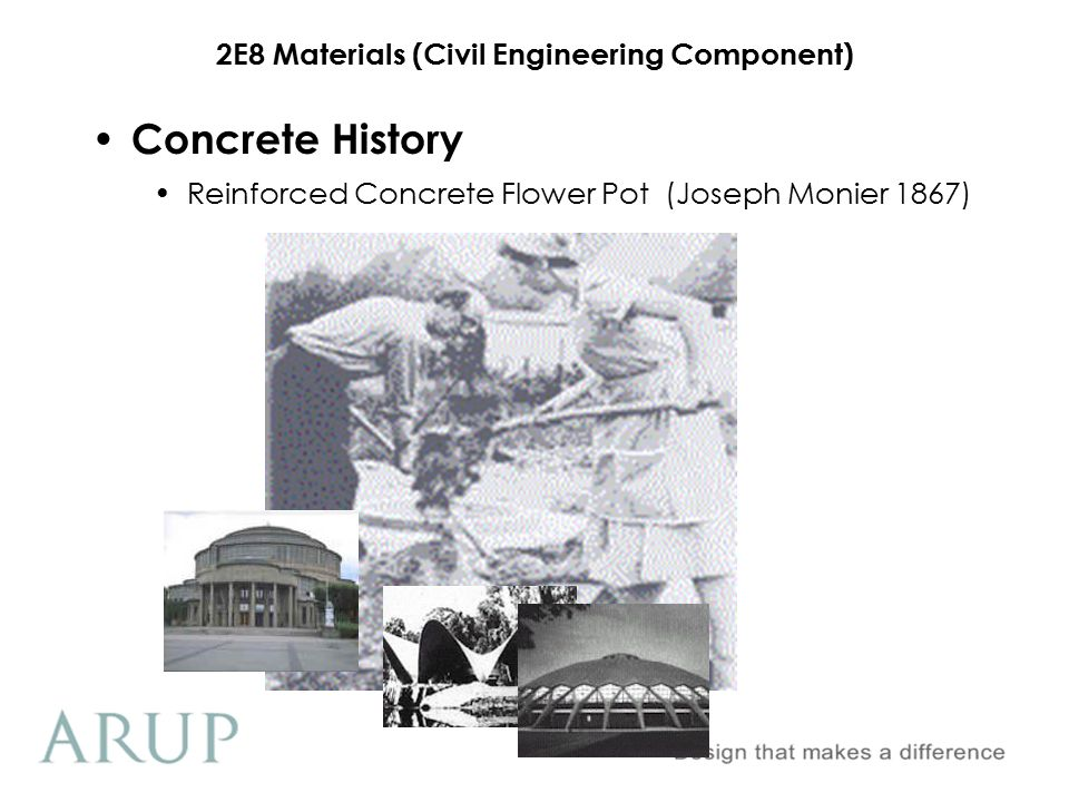 2E8 Materials (Civil Engineering Component) Weavers Mill Swansea (1898) Concrete History