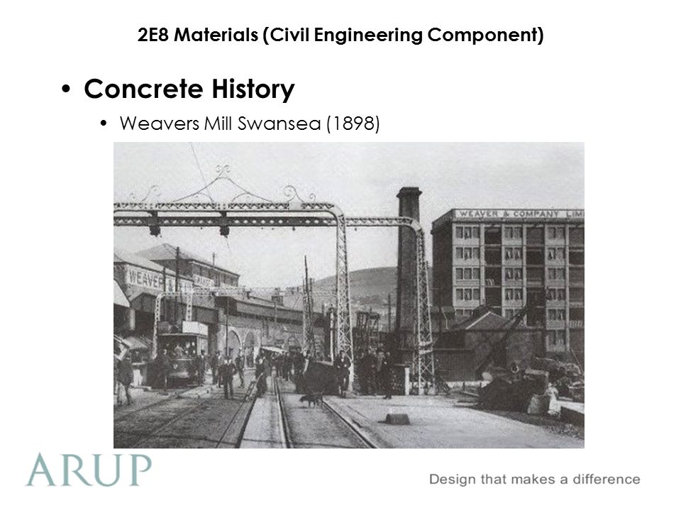 2E8 Materials (Civil Engineering Component) Freysinnet Concrete History