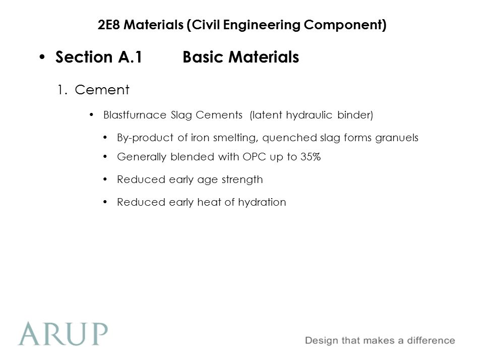 2E8 Materials (Civil Engineering Component) Section A.1Basic Materials