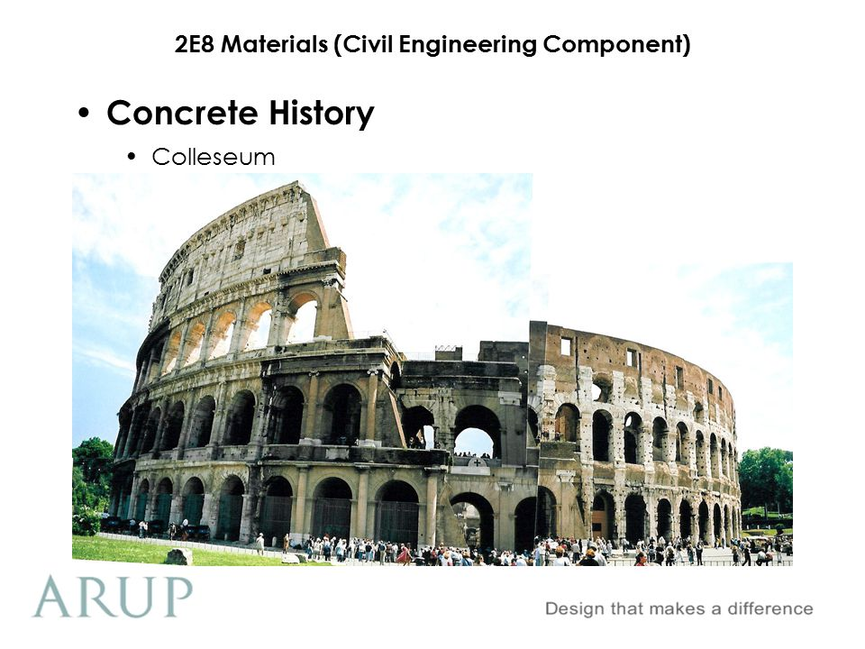 2E8 Materials (Civil Engineering Component) Pantheon Concrete History