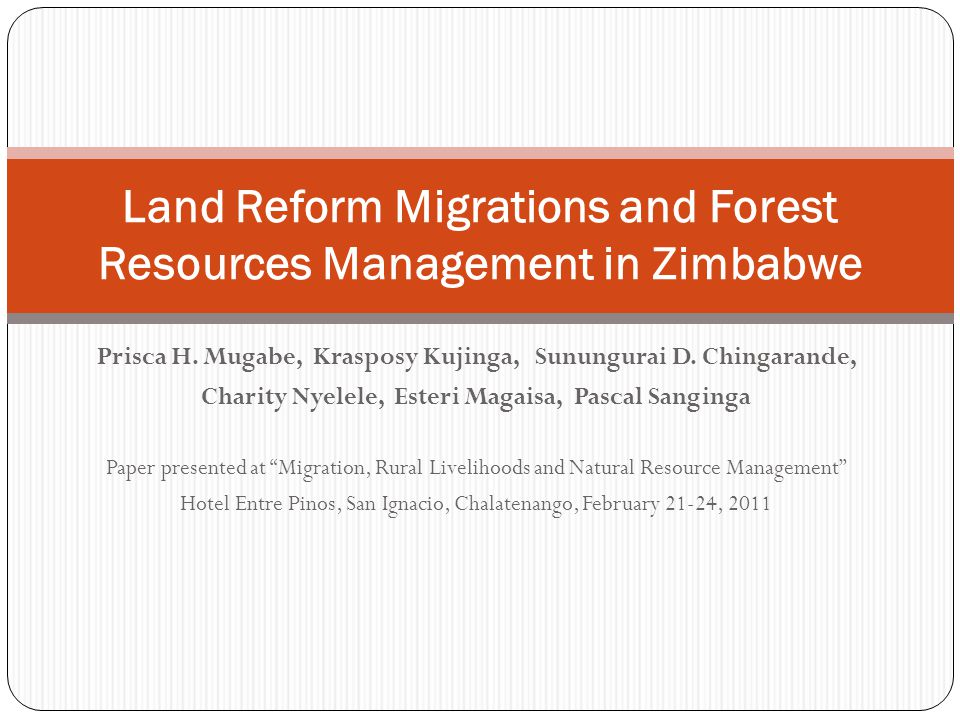 Lessons: forest management 22 Forests were invaded and cleared for agricultural activities but there remained forest patches that provide a number of forest products and services 86% of the Nyabamba migrants had to clear the forest in order for them to commence farming 1-3 months to clear land for farming and residential Over 70% reduction in forest cover of the area Outside intervention should not be merely to stop deforestation but to facilitate change of attitudes about forests