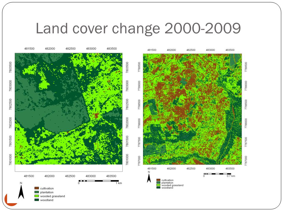 Land cover change 2000-2009 23